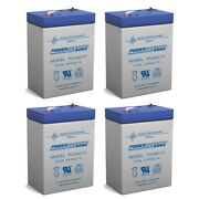 Power-sonic 6v 4.5ah Battery Replaces Power Wizard Pw50s Electric Fence - 4 Pack
