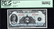 1935 Bank Of Canada 2 In Almost Uncirculated Pcgs Au58 Ppq Bc-3