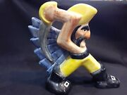 Vintage Signed/dated Sp/98 Shearwater Pottery Pirate Nice 8 1/4tall