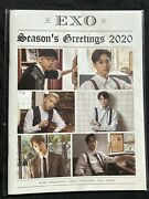 Exo Seasons Greetings 2020 Desk Calendar, Dvd, Stickers, Diary And Pamphlet
