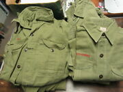 Boy Scout And Scout Leader Shirts, Various Sizes, 1960-70's Lot Of 18 Cov