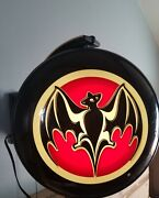 Bacardi Rum Motion Moving Spinning Light Up Double Sided Pub Sign With Bat