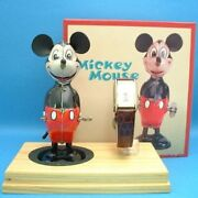 Disney Mickey 70th Anniversary Birthday Watch Tin Toy And Watch Set Limited 2500