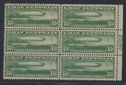 C13 Plate Block Vf-xf Og Nh Absolutely Immaculate Beautiful Gd 3/2