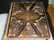 1892 Holy Bible-king James Revised Versions-old And New Testaments-leather Bound