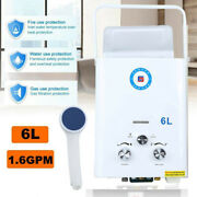 Portable Lpg Propane Gas Hot Water Heater 6l Tankless Instant Boiler Outdoor