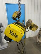 1000 Lb Yale Electric Chain Hoist With Power Trolley Yoder 68958