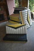 Lot 14 Diner Booth Bench Back Seat 50's Mcm Restaurant Seating Dining Set Style