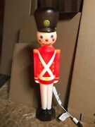 Blow Mold Toy Soldier Light Up General Foam Christmas Decoration Display 30andrdquo