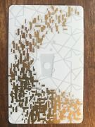 2013 Starbucks Gift Card White Gold Unused Pin Intact No Stored Value 6095