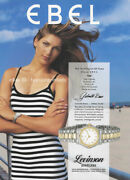 Ebel Watches 1-page Magazine Print Ad 1994 Gabrielle Reece