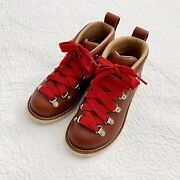 Crary Boots Mt Hood Womens Truckee Red Leather Hiking Boots Size 5.5d