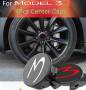 Car Wheel Center Hub Cap Caps Cover And Lug Nut Covers Kit For Tesla Model 3 S X