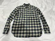 Rrl Mens Long-sleeve Check Shirt Size M Multicolor Button Down Used