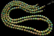 Natural Ethiopian Opal Smooth Round Gemstone Beads Strand For Crafts And Jewelry