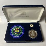 1997 National Law Enforcement Officers Memorial Silver Dollar Pin And Patch Set