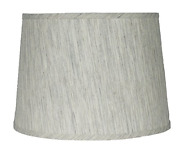 Urbanest French Drum Lampshade,textured Flax Linen, 12-inch, Spider, Gray Tone,