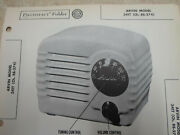 Arvin Model 341t - Schematic And Parts Id Sams Photofact- Tube Radio