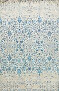 Vegetable Dye Abstract Oriental Hand-knotted Wool Area Rug Dining Room 9x12