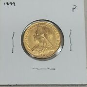 1899 P Gold Sovereign Old Head Unc St George And Dragon Low Mintage Scarce Rare