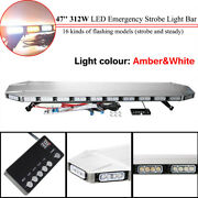 47and039and039104led Work Light Bar Reliable Bright For Tow Truck Aluminum+pvc Amberandwhite