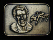 Qc09160 Nos Vintage 1976 Aaaay The Fonz Happy Days Tv Show Belt Buckle