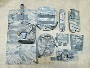Usaf Abu Tiger Stripe Pouch Lot Canteen Gp Jfak Joint First Aid Mag Hydration