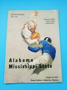 Mississippi State At Alabama - College Football Program - 1953