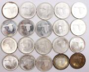 12 Oz Of Pure Silver In 20x 1867-1967 Canada Silver Dollars 20-coins Choice Unc