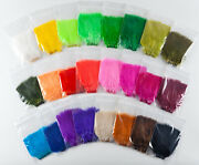 Lot Of 24 Colors Strung Marabou Assortment - Fly Tying Materials