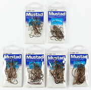 6 Packages Mustad 80300br Bass Bug Stinger Fly Tying Hooks