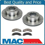All New Front Disc Brake Rotors With Ceramic Fusion Pads 08-17 Ram 4500 3pc