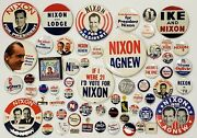 Collection Of 62 Different President Richard Nixon Campaign Buttons And Pins