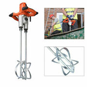 Electric Paint Cement Grout Mixer Double Paddle Mortar Stirring Tool Handheld