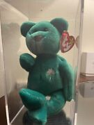 Ty Beanie Babies Erin The Bear 1997 Rare In Protective Case Since 98