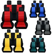 Front And Rear Car Seat Covers Fits Jeep Liberty 2002-2012 Choice Of 12 Colors