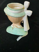 Lady Head Vase Vintage Mint Green Lucille Ball Napco 1958 C3342a Necklace