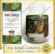 Yankee Candle - 13lb King Candle - 4 Wick Balsam And Cedar Scent - Rare And Htf