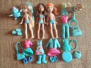 Polly Pocket Colors Of The Rainbow Blue Big Feet Doll Clothes Modern F32