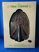 Hallmark Ornament 1979 Christmas Angel Acrylic Stained Glass Style Tree Topper