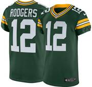 Green Bay Packers Aaron Rodgers 12 Nike Menand039s Green Official Vapor Elite Jersey