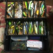 Lure Set For Trout Bass Fishing Hard And Soft Versus Tackle Box Worm Used 900/ak