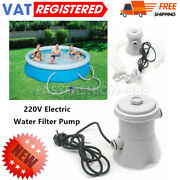 Electric Filter Pump Swimming Paddling Pool Above Ground Flowclear Tool 300gal/h