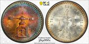 1949 Mexico 1 Balance Onza Pcgs Ms65 Mexico Silver Gorgeous Colors Registry Coin