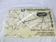 Nos Vtg Cannon Royal Family Twin Flat Sheet Pink Blossoms 60/40 Percale