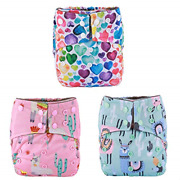 3 Aill In One Night Aio Cloth Diapers Nappies Built In Charcoal Bamboo Insert