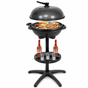 Patio Cooking Grill 1350 W Outdoor Electric Bbq Grill W/ Removable Stand Holder