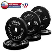 Olympic Barbell Plates 2 Inch Solid Cast Iron Weight Plate Home Gym 25/35/45lbs