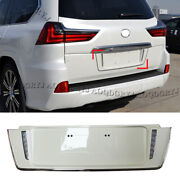 For Lexus Lx570 2016-2020 To Trd Style W/ Led Pearl White License Plate Frames