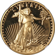 1990-w Gold American Eagle 50 Ngc Pf70 Ultra Cameo Brown Label
